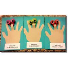 """Non food Classroom birthday treat.  Googly eye rings.   """"high five ____ is turning ___!"""""""