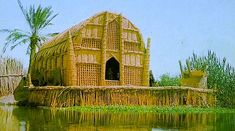 These little-known architectural wonders are known as a 'mudhif'; built without nails, wood or glass in under three days, even the islands the houses rest on are made of compacted mud and rushes. Iraq