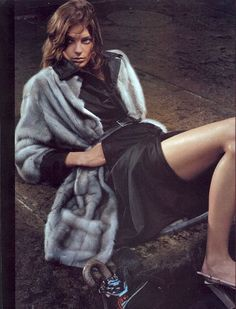 Daria Werbowy by Steven Meisel Prada FW03