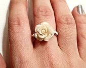 Flower wire wrapped ring on Etsy!