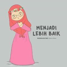 Cartoon Quotes, Cartoon Art, Hijab Cartoon, Islamic Qoutes, Allah Islam, Muslim Women, Ramadan, Cute Girls, Haha