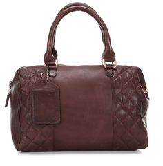 wardow.com - #cowboysbag, Donner Handtasche Leder violett 35 cm, #marsala