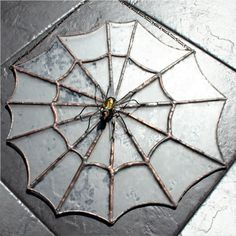 Stained Glass suncatcher with a 3D spider
