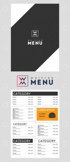 Black and white template   Черно-белый шаблон Food Menu Design, Restaurant Menu Design, Menu Online, Lunch Menu, Lorem Ipsum, Social Media, Compass, Business, Layouts