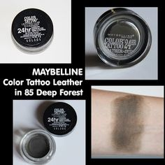 MichelaIsMyName: MAYBELLINE Color Tattoo Leather in 85 Deep Forest ...