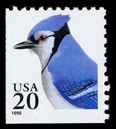 20-cent beautiful Blue Jay from the Flora & Fauna stamp series, issued in 1995.