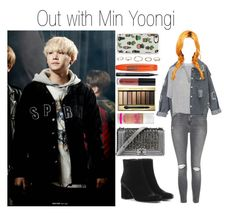 """""""Out with Min Yoongi"""" by yonce4park ❤ liked on Polyvore featuring Topshop, Apiece Apart, Yves Saint Laurent, Chanel, Max Factor, Anastasia Beverly Hills, NARS Cosmetics, Rimmel, Boohoo and Casetify"""