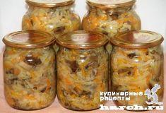 Салат из опят с капустой Псковский, headline zagotovki iz gribov domashnie zagotovki
