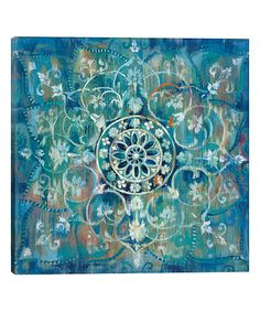Mandala wall decor is a great way make your home feel more relaxing. In addition, to being relaxing mandala wall decor is beautiful, unique and incredibly popular right now. You will see it everywhere from bedrooms, living rooms offices, and yoga / exer Mandala Bleu, Mandala Print, Mandala Pattern, Pattern Art, Painting Prints, Wall Art Prints, Framed Prints, Canvas Prints, Paintings