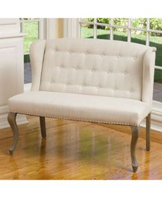 Coalton Wingback Button-Tufted Fabric Loveseat, Quick Ship - Couches & Sofas - Furniture - Macy's