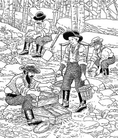 Printable Hidden Pictures Gold Rush