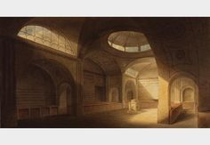 Bank of England stock office, by Joseph Gandy,  1798.