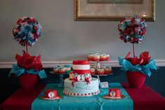 "Dr Seuss Thing 1 Thing 2 / Birthday ""Thing 1 Thing 2 Twins First Birthday Party"" 