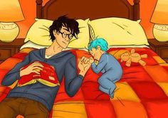 Harry Potter & Teddy Lupin. This may have made me cry.