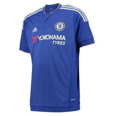 The defending champs stay with their classy look. With the simply blue design, The Blues will show off their skill and destroy the EPL. Watch out for the 2015-16 Adidas Chelsea home jersey, now featuring a new sponsor. Get your Chelsea jersey today at SoccerCorner.com and cheer on CFC all year long.  http://www.soccercorner.com/Adidas-Chelsea-Home-15-16-Replica-Soccer-Jersey-p/tt-adah5104.htm