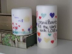 Transferring Ink to Candles This is brilliant!