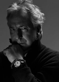 Alan Rickman wants you to see his watch.