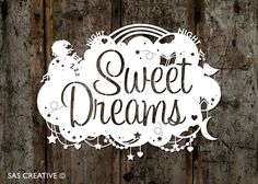 Papercut Template 'Sweet Dreams' Childrens/New Baby by SASCreative