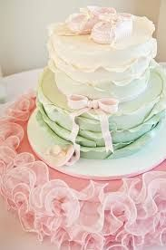 Pink, Mink Green and Creme Baby shower cake http://www.ontobaby.com/2013/04/pretty-baby-shower-in-pink-mint-green-and-gold/