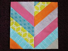 """Want to learn how to make a herringbone block? Here's your chance!     You will need:   14 strips of fabric, 2.5"""" x 11"""" long (this is a gre..."""