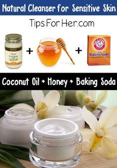Natural Cleanser for Sensitive Skin - How to make a natural cleanser for sensitive, dry, and oily skin. Perfect for removing makeup, gently exfoliates and won't cause your skin to break out.