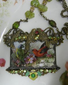 Soldered Glass Assemblage Necklace