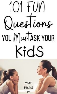 101 Fun Questions To Ask Kids To Know Them Better - Mom Hacks 101 101 fun questions to ask kids to know get to know them better! Ask A Question A Day Or Use As Great conversation starters to bond with your kids over dinner or a long car ride. Fun Questions For Kids, Kids And Parenting, Parenting Hacks, Mom Hacks, Life Hacks, Raising Kids, Toddler Activities, Family Activities, Conversation Starters