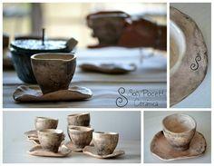 Juego de tazas de Café #sofipocetticeramica #Ceramica #pottery #deco #torno #cuenco #ensaladera #botella #home
