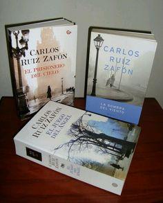 Tres libros de Carlos Ruiz Zafon que robaron  mi atencion y mi corazón.