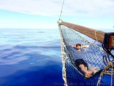 Chilling in a hammock above the Indian Ocean, Reunion Island