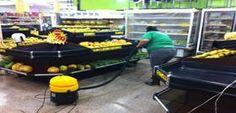 Limpeza e higienização de Pisos de Supermercado.
