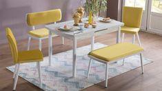 Mondi mobilya kalitesinin ve zarafetinin buram buram koktuğu , her mutfakta kendine özgü bir hava katacak olanMondi Mobilya Kardelen Mutfak Masa Sandalye takımını gördüğünüzde aklınızdaki bütün modeller bir anda silinecek ve bütün ilginizi üstünde toplayacaktır. Mondi Mobilya Kardelen Mutfak Masa Sandalye takımında oldukça fazla renk seçeneği bulunsa da en çok tercih edilen tonlar sarı ve kırmızı olmuştur. Mondi mutfak masası takımında 1 adet ortadan açılır kapanır mutfak masasına eşlik…