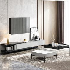 tv stand and coffee table Coffee Table Decor Living Room, Center Table Living Room, Living Room Tv, Round Coffee Table Modern, Modern Tv Wall Units, Rack Tv, Room Design Bedroom, Modern Lounge, Living Room Inspiration