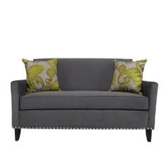 Cute little couch for a home office or small living room.