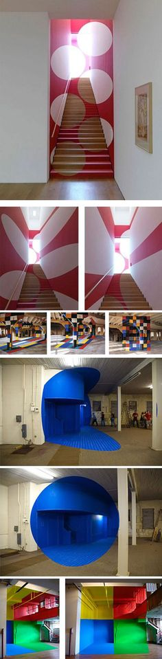 Anamorphosis art | Is a distorted projection or perspective requiring the viewer to use special devices or occupy a specific vantage point to reconstitute the image.