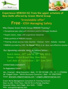 48 Best Nebosh Courses Images In 2019 Green New Delhi Safety