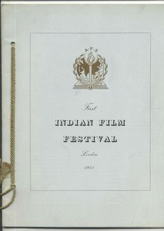 The First Indian Film Festival London 1955 Film Brochure Asian Scala Theatre Cinema The First