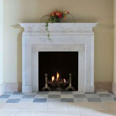This is a fireplace surround we installed. The granite is Santa ...