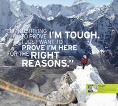 Inspiration from Eddie Bauer Guide Melissa Arnot | #LiveYourAdventure #Inspiration #Adventuer #Mountaineering