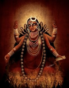 Bhairavi by Avinab Mukheerji Indian Goddess Kali, Durga Goddess, Durga Maa, Hanuman, Shiva Yoga, Shiva Shakti, Kali Hindu, Hindu Art, Shiva Art