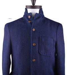 Luxire Sashiko Jacket. With horn buttons fasteners. http://custom.luxire.com/products/indigo-heavy-sashiko-jacket