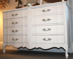 old white annie sloan painted dressers   Shabby Chic Dresser Painted with Annie Sloan Paint