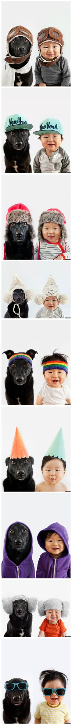 Rescue Dog And Baby BFF Are Partners In Crime AND Fashion.....reminds me of Elysa and Holly