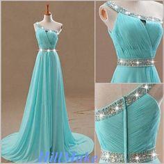 Tiffany Blue Homecoming DressAline Floorlength Prom by HillMake, $119.00