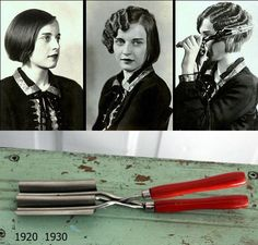 Wave Iron 1920 1930 curly hair...so that's how they did it.