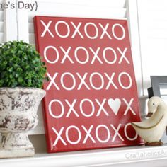 Great Valentine's Day Subway Art Printable With Tutorial
