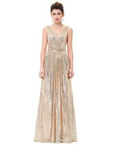 6661e879dc Formal Elegant and classy Sequin Long Dress. Champagne Sequin Bridesmaid  DressesSequin ...