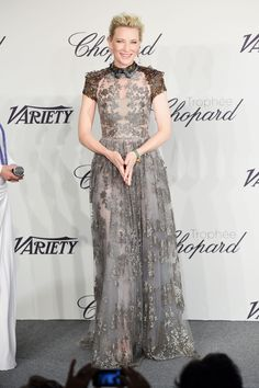 cate blanchett in valentino SHE COULD PULL A PLASTIC BAG IF SHE COULD AND IT WOULD LOOK SOO CHICThe 2014 Trophee Chopard
