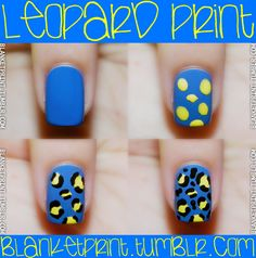 How to do leopard print nails.since Kirstyn keeps going on and on about leopard (and zebra) nails Get Nails, Love Nails, How To Do Nails, Pretty Nails, Hair And Nails, Tumblr Tutorial, Tie Dye Tutorial, Nails Decoradas, Nagellack Design