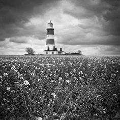 Lighthouse, Black And White Signed Print
